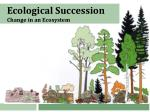 Ecological Succession  Change in an Ecosystem