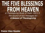 THE FIVE BLESSINGS