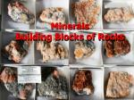 Minerals Building Blocks of Rocks