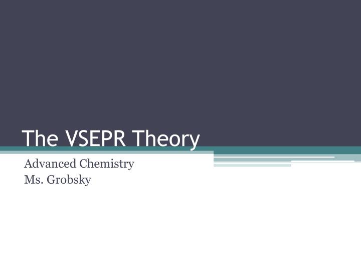 the vsepr theory n.