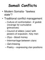 Somali Conflicts