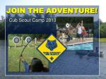 JOIN THE ADVENTURE!