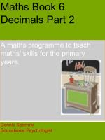 Maths Book 6 Decimals Part 2