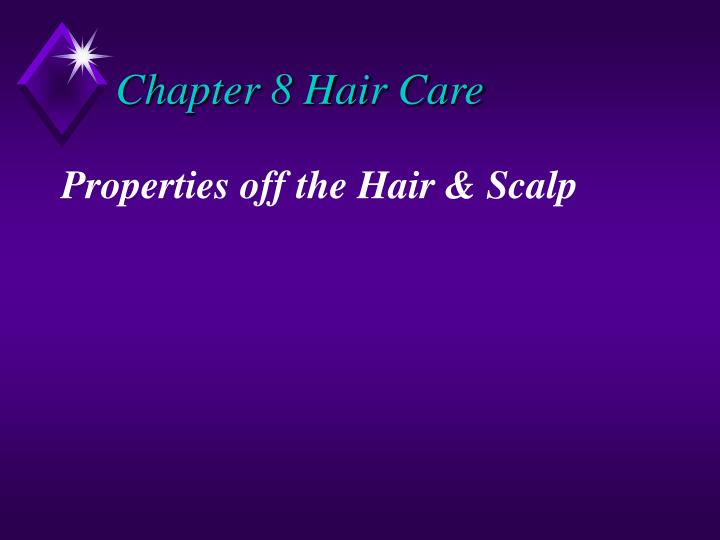 chapter 8 hair care n.