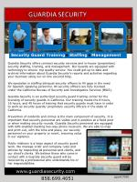Guardia Security offers contract security services and in-house (proprietary)