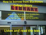 How to borrow from Blacktown College Library