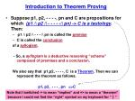 Introduction to Theorem Proving