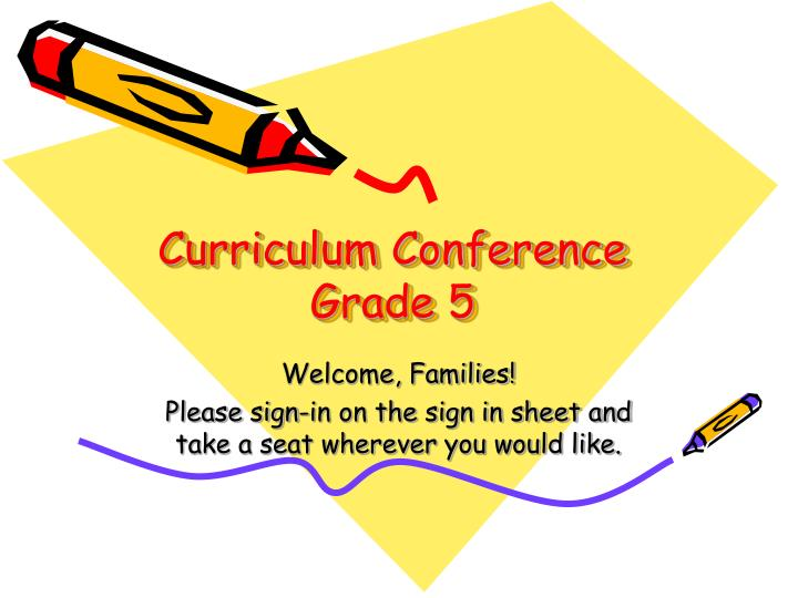 curriculum conference grade 5 n.