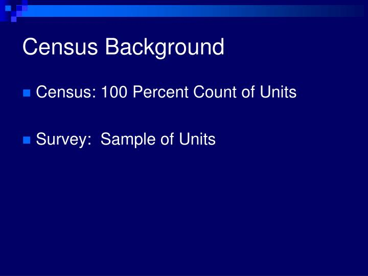 census background n.