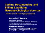 Antonio E. Puente Department of Psychology University of North Carolina at Wilmington 28403-3297