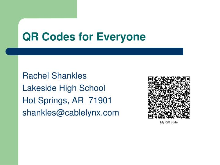 qr codes for everyone n.