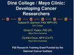 Din é College / Mayo Clinic: Developing Cancer Researchers