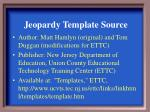 Jeopardy Template Source