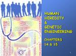 HUMAN HEREDITY & GENETIC ENGINEERING