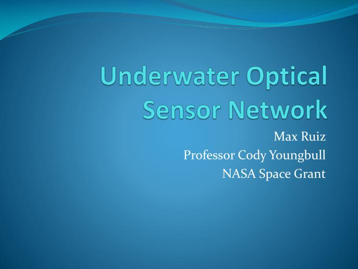 underwater optical sensor network n.