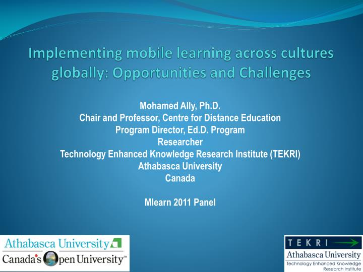 implementing mobile learning across cultures globally opportunities and challenges n.