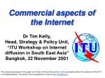 Commercial aspects of  the Internet