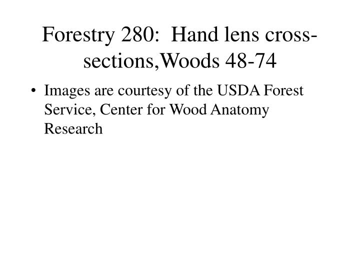 forestry 280 hand lens cross sections woods 48 74 n.
