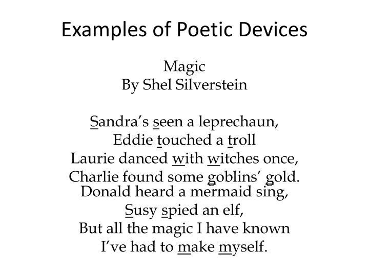 examples of poetic devices n.