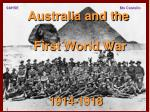 Australia and the First World War