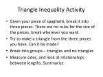 Triangle Inequality Activity