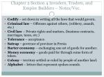 Chapter 2 Section 4 Invaders, Traders, and Empire Builders – Notes/Voc.