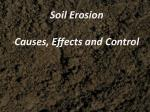 Soil Erosion Causes, Effects and Control