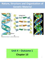Nature, Structure and  Organisation  of  Genetic Material