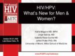 HIV/HPV: What's New for Men & Women?
