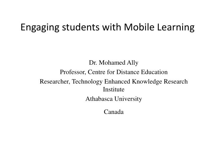 engaging students with mobile learning n.