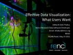 Effective Data Visualization: What Users Want