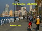 The Country- LEBANON .