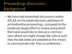 Proceedings discussion.. background