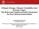 Climate Change,  Climate Variability And  Poverty Traps:
