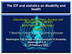 The ICF and statistics on disability and health