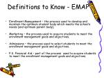 Definitions to Know - EMAP