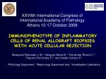 IMMUNOPHENOTYPE OF INFLAMMATORY CELLS OF RENAL ALLOGRAFT BIOPSIES WITH ACUTE CELLULAR REJECTION