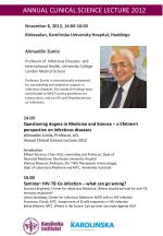 ANNUAL CLINICAL SCIENCE LECTURE 2012