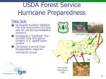 USDA Forest Service Hurricane Preparedness