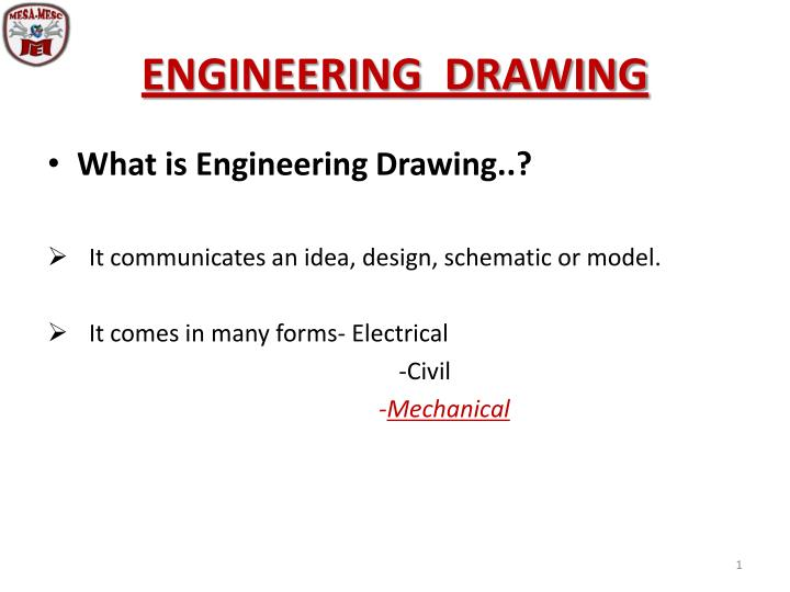 engineering drawing n.