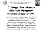 College Assistance Migrant Program