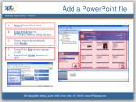 Add a PowerPoint file