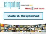 Chapter 06: The System Unit