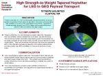 Communications satellite boosted to its operational orbit by an RLV using a Hoytether