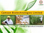 Camson Biotechnologies Limited