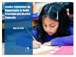 Leader Evaluation: An Opportunity to Build Principal and District Capacity