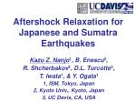 Aftershock Relaxation for Japanese and Sumatra Earthquakes