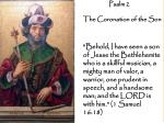 Psalm 2  The Coronation of the Son