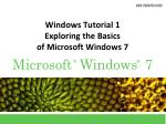 Windows Tutorial 1 Exploring the Basics of Microsoft Windows 7