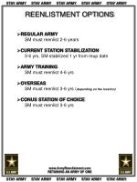 REENLISTMENT OPTIONS